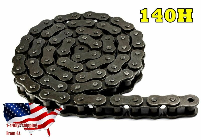 #140H Heavy Duty Roller Chain 10 Feet with 1 Connecting Link