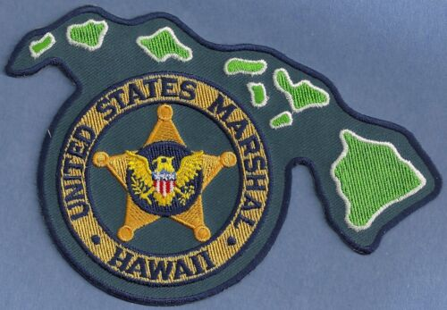 UNITED STATES MARSHAL HAWAII SHOULDER PATCH STATE SHAPED