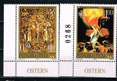 Serbien Ostern Berühmte Religiöse Gemälde Set 2003 MNH