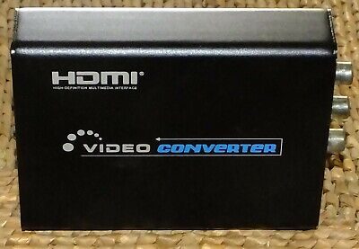 HDMI to Composite 3RCA AV S-Video R/L Audio Vdieo Converter, used for sale  Shipping to India