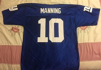 NY Giants Jersey Men's Large Manning #10 NFL Players Football New York Big Blue image