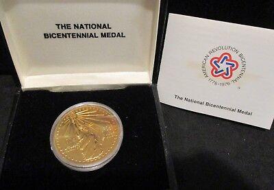 1976 Statue Of Liberty National Bicentennial Bronze Medal     Enn Coins