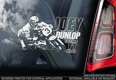 Joey Dunlop - Car Window Sticker - Isle of Man TT #3 - PROCEEDS TO CHARITY