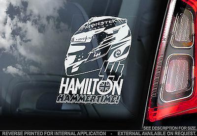Lewis Hamilton - F1 Car Window Sticker - 'HAMMERTIME' -Mercedes Formula 1 - TYP2