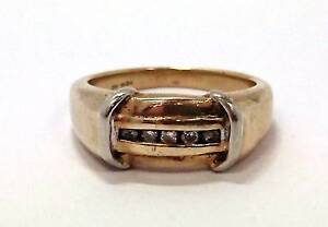 9ct Yellow Gold Men's Diamond Ring Joondalup Joondalup Area Preview