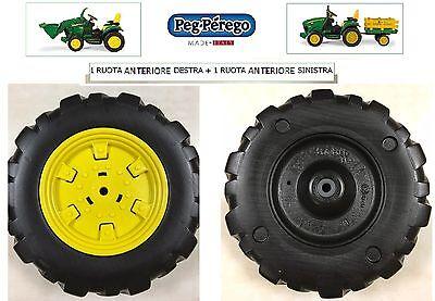 PEG PEREGO 2 ruote anteriori Trattore elettrico 12V J.D. Ground F. -nuovo-Italia