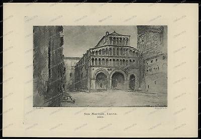 Druck-Stahlstich-Engraving-John-Ruskin-San-Martino-Lucca-1882-Allen & Co-38