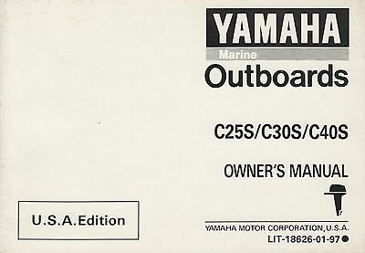 1993 YAMAHA OUTBOARD  C25S/C30S/C40S OWNERS MANUAL LIT-18626-01-97 (034)