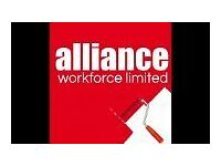 Painter & Decorator - £12 - Ongoing - Call Alliance 01132026050