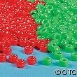 100-Christmas-Plastic-Pony-Beads-Red-Green-Holiday-Kids