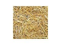 Straw and sawdust, also rabbit hutch and some rabbit food.