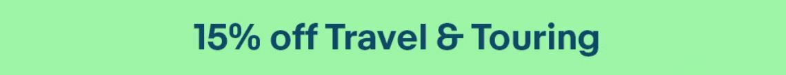 15% off travel & touring