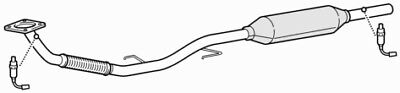 Front Exhaust Down Pipe & Catalytic Converter for Seat Ibiza 1.4 (05/04-06/08)