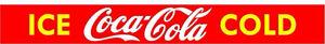 RETRO STYLE ICE COLD COCA COLA  ADVERTISING DOOR BAR