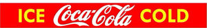 RETRO STYLE ICE COLD COCA COLA  ADVERTISING DOOR BAR