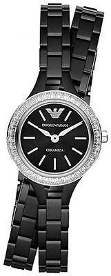 *NEW* EMPORIO ARMANI AR1483 LADIES CERAMICA BLACK WATCH - 2 YEARS WARRANTY