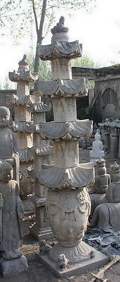 Asian Style Garden Pagoda , Lantern or Staue, Tall 4 Tier, Stone