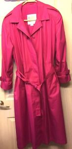 London Fog Trench Coat Sz 14 Petite