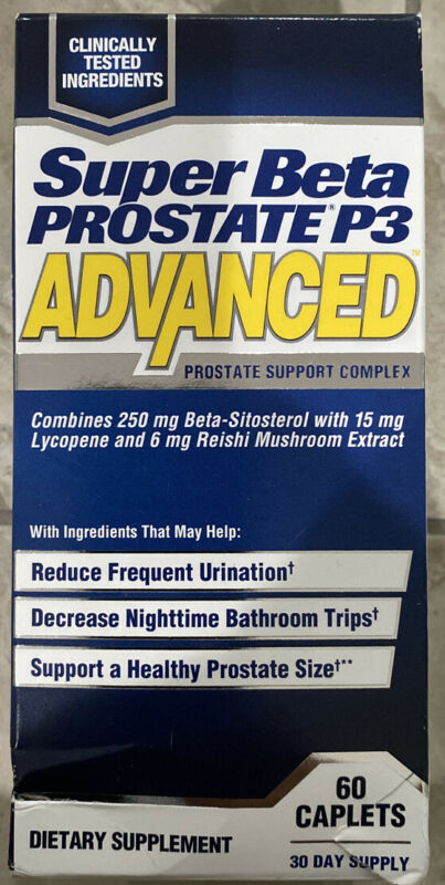 (New) Super Beta Prostate P3 Advanced By New Vitality - 60 Caplets exp 5/2022+