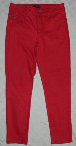 NYDJ Women's Jeans Red Skinny Leggings Stretch 2P 2 Petite