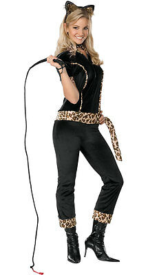 Katty Kitty Cat Kitten Leopard Black Cute Dress Up Halloween Teen Tween Costume