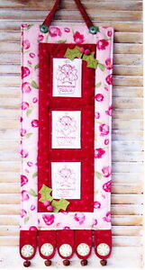 PATTERN -Peace, Love, Joy - PATTERN for pretty stitchery Christmas wall hanging