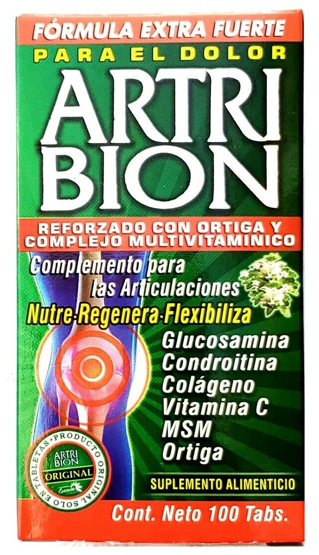 ARTRIBION VITAMINADO 100 Tabs Extra Strong Formula Soporte JOINTS COMPLEMENTS