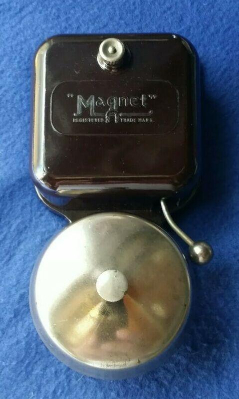 VINTAGE OLD ORIGINAL ELECTRIC MAGNET GEC BAKELITE BRASS DOOR ALARM BUTLER BELL