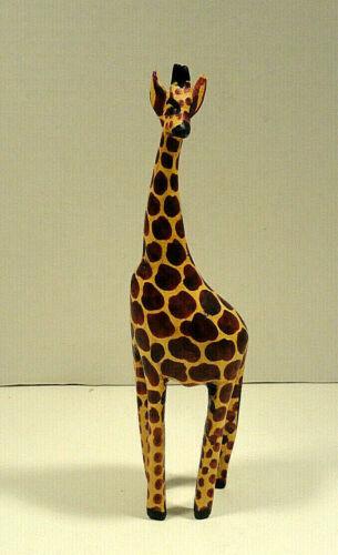 Hand Crafted Wood Giraffe Figurine