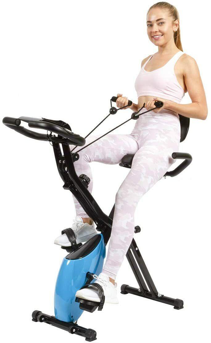 3-in-1 Foldable Exercise Bike Stationary Upright Recumbent I
