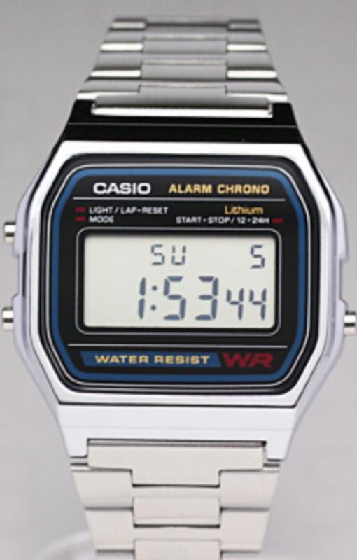 fcf2468ae27 Casio Watch Retro Digital Unisex A-158W A-158 Original New Digital A158  Silver ...