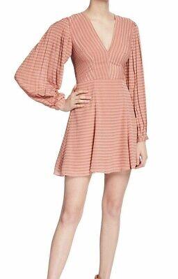 Keepsake The Label Women's Waterfall Long Sleeve Aline FIT & Flare Mini Dress, M