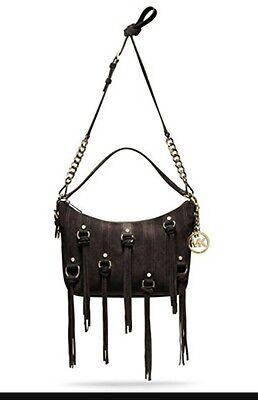 Presley Brown Leather - NWT Michael Kors Presley Coffee Brown Suede Fringe Tassel Xbody Shoulder Bag