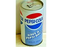 Pepsi Cola Soda Can~Bicentennial Offer~1976~Wis-Pak Inc~Watertown Wisconsin