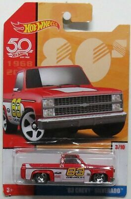 Hot Wheels 2018 Throwback Decades '83 Chevy Silverado red white target exclusive