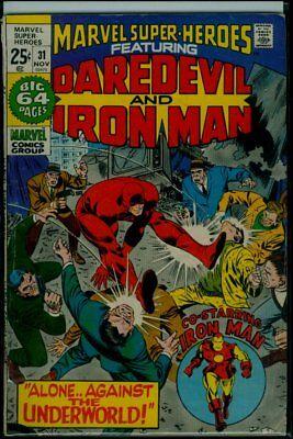 Marvel SUPER-HEROES #31 Rprnt TALES Of SUSPENSE #89 IRON MAN DAREDEVIL #19 VG/FN