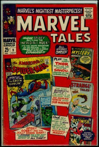 MARVEL Tales #9 Rep Spider-Man #14, JIM #91 TTA #54 Strange Tales 107 VG/FN 5.0