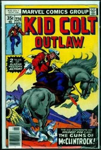 Marvel Comics KID COLT Outlaw #224 FN 6.0