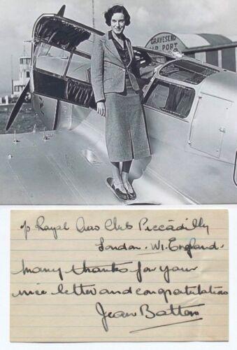 Jean Batten Aviation Pioneer 1930