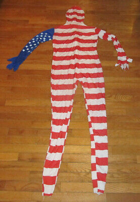 Rubie's American Flag Morphsuit Adult Morph Suit Costume Size L 4th of July](Morph Suites)