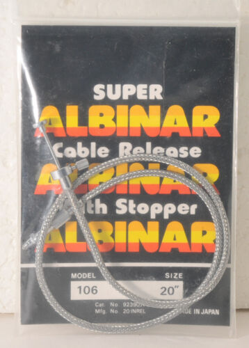 """Albinar 20"""" Cable Shutter Release with braided steel covering"""