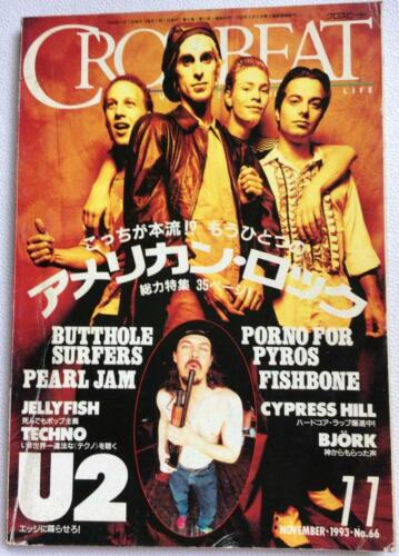 CROSSBEAT 11/1993 Japan Magazine U2 Pearl Jam Butthole Surfers Bjork Jellyfish