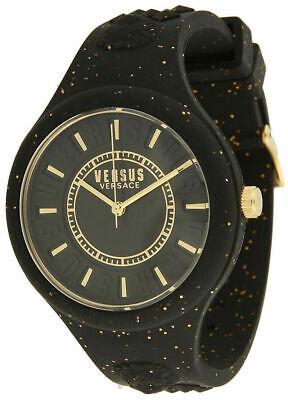 Versus Versace Women's Watch Black Silicone Strap Fire Island VSPOQ0118