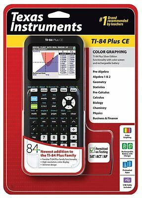 NEW Texas Instruments TI-84 Plus CE Graphing Calculator, Black