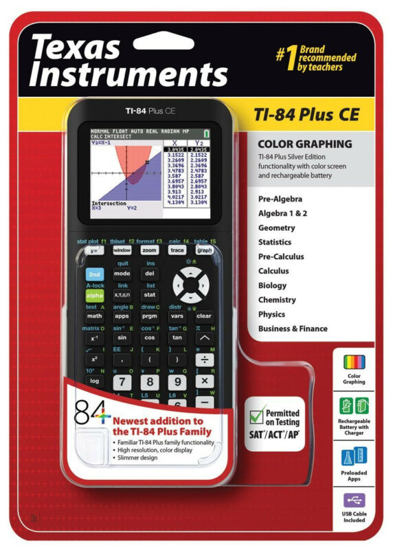 Texas Instruments TI-84 Plus CE Graphing Calculator - NEW IN PACKAGE