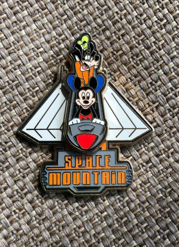 Disney Mickey Goofy Space Mountain 3D Slider Pin