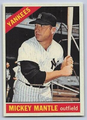 1966  Mickey Mantle   Topps  Reprint  Baseball Card   50   New York Yankees