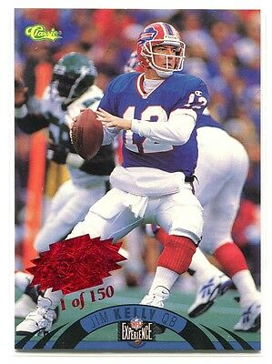 (1996 Classic NFL Experience Super Bowl Red 16 Jim Kelly /150)