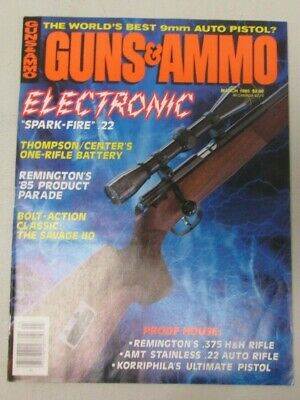 Guns & Ammo Magazine March 1985 The World's Best 9mm Auto