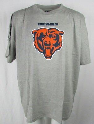 Chicago Bears Men's Gray 100% Cotton Screen Print Short Sleeve Tee NFL 5XL